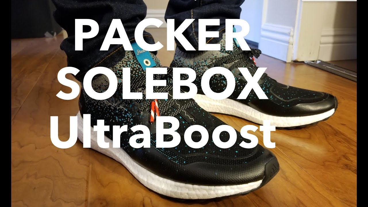 85ee38598 Packer SoleBox Adidas Boost Consortium Ultra Boost Unboxing On Feet Review