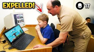 KIDS CAUGHT Playing Fortnite IN SCHOOL!