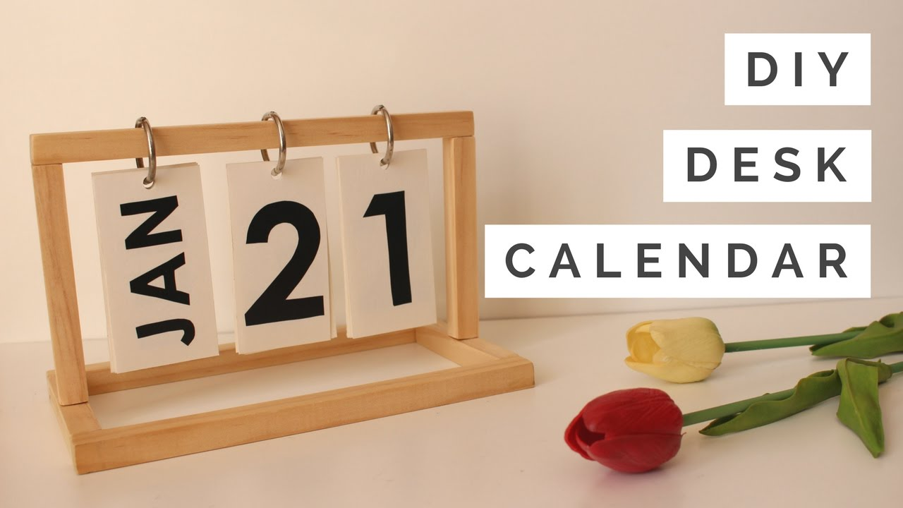 Diy Year Calendar : Diy desk calendar youtube