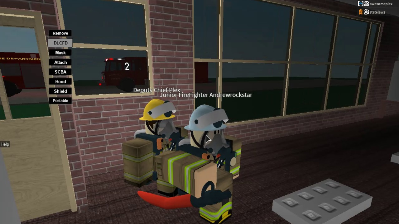 Roblox Firefighter Mask Random Forestville Fire Department Roblox Video Youtube