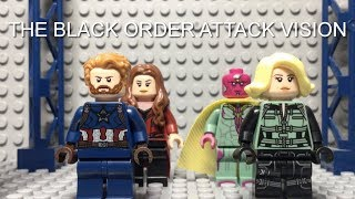 LEGO AVENGERS INFINITY WAR THE BLACK ORDER ATTACK VISION