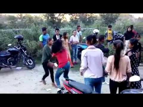 Girl's Stick Fight  - Assam Negaland Boder - India