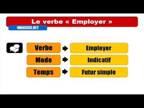 French verb conjugation # To employ, to use