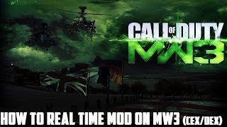 How to Real Time Mod (RTM) on MW3 for PS3 (HD)