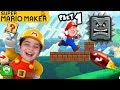 MARIO MAKER Wii Obstacle Course Challenge Part 1 on HobbyKidsGaming