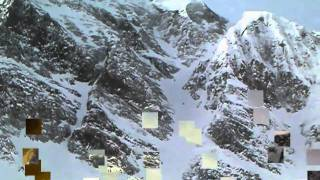Skiing the BIG COULOIR at Big Sky MT
