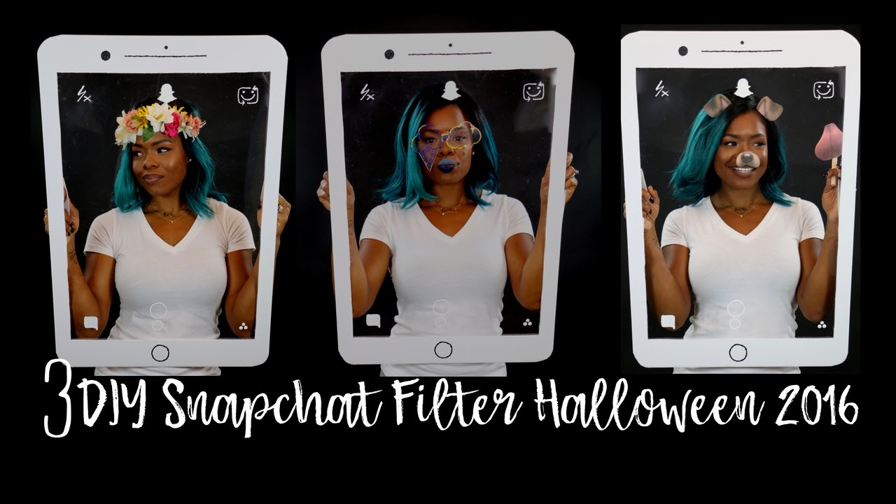 3 Diy Snapchat Filters Iphone Halloween 2016 Youtube Filter Band Reject Hobby Electronics