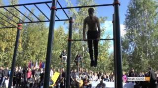 Тимати и workout-24 (Москва) на открытии спортплощадки в Тюмени