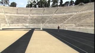 Karol Meyer * Correndo na pista de atletismo da 1a Olimpiada Atenas!