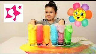 Развлечение для детей, делаем цветную пену. Fun for children, color foam.