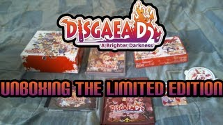 Disgaea D2 A Brighter Darkness Limited Edition Unboxing + Game Intro