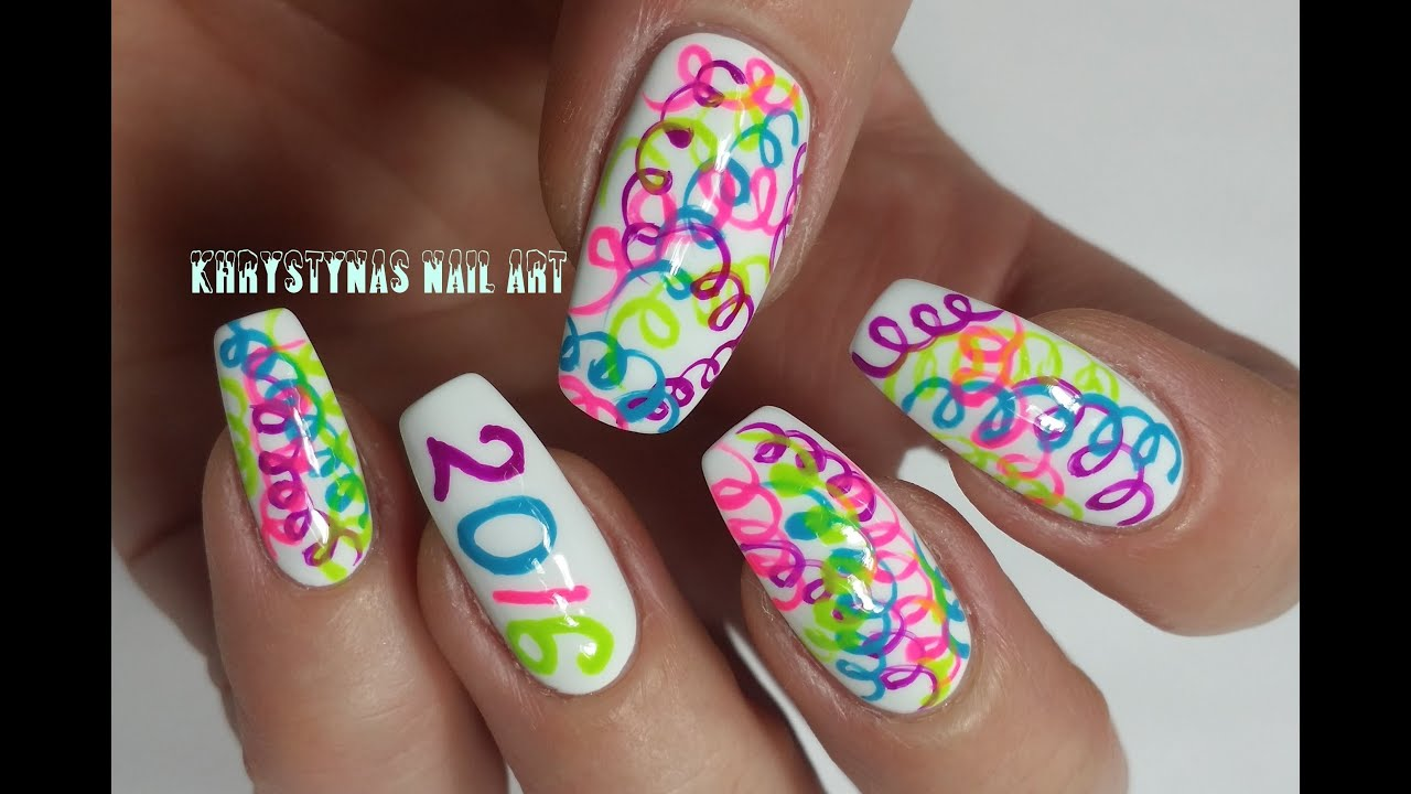 years nail art happy