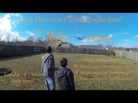 Mighty Midget Long Duration Flying Quad! Flight Time Tests!