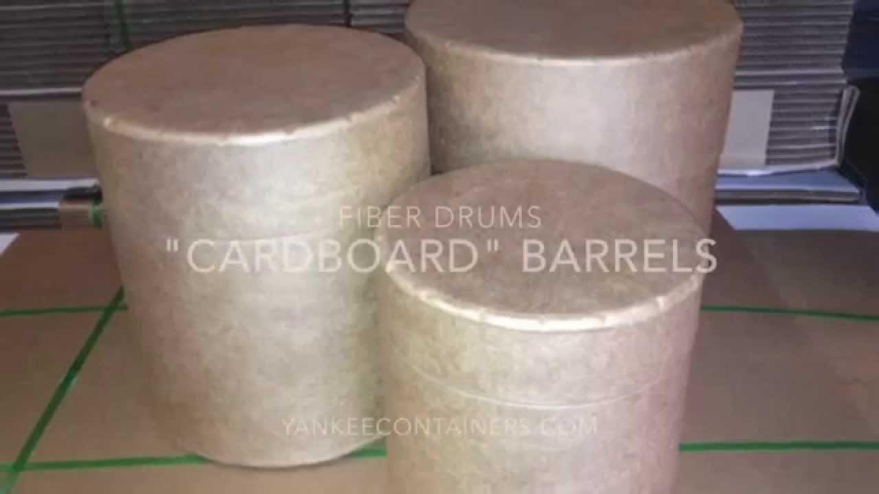 cardboard drums or barrels - YouTube