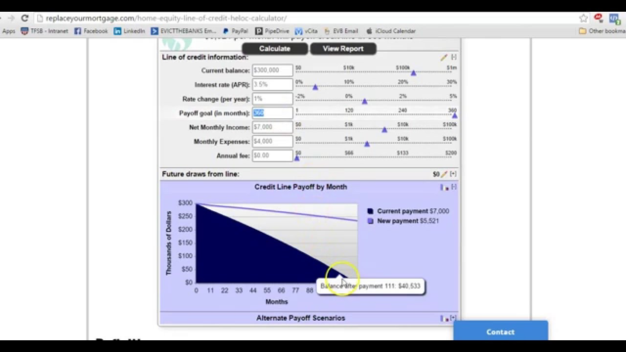 heloc calculator how to determine your debt free date youtube