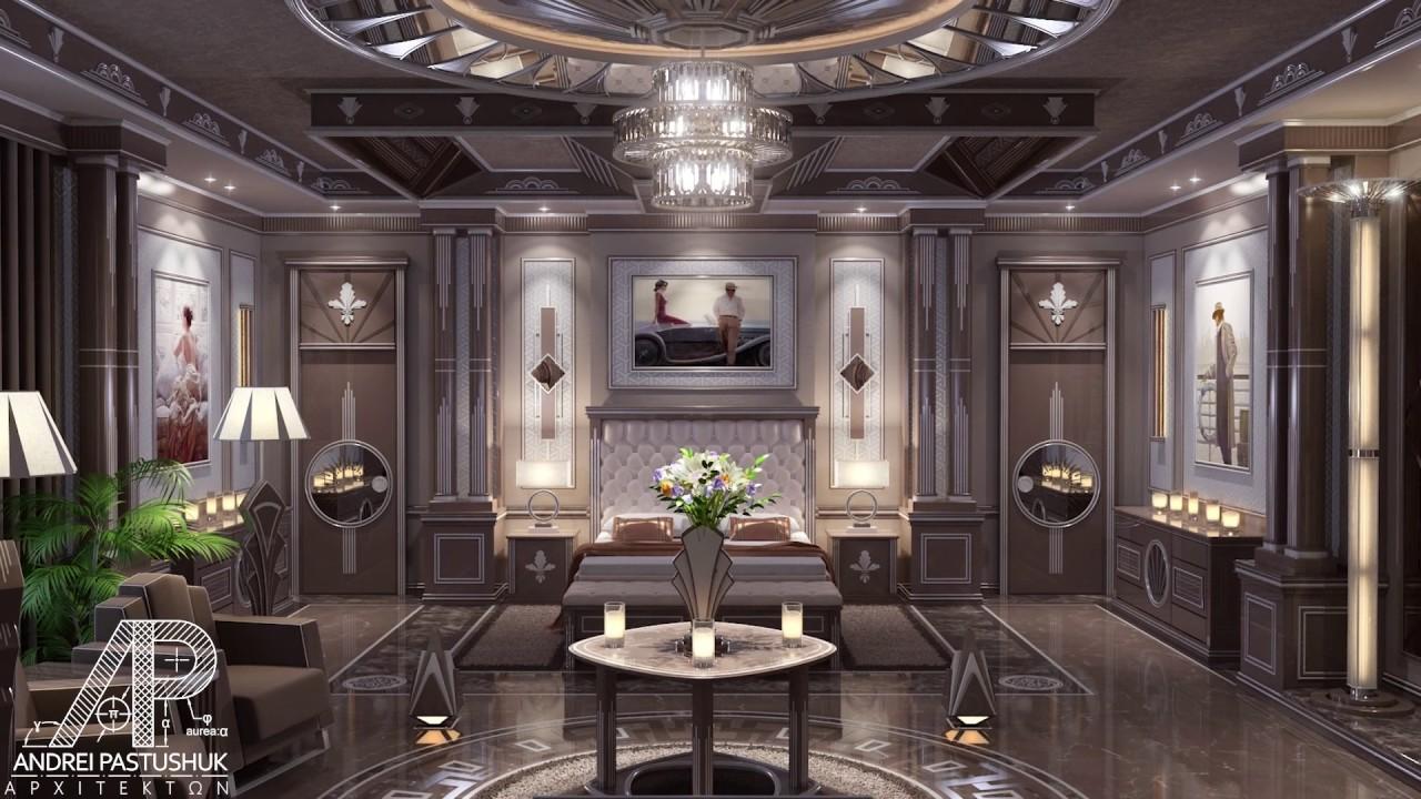 High-End Interior Design - Art Deco Master Bedroom - YouTube