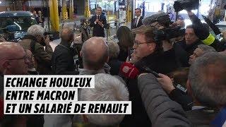 Échange houleux entre Macron et un ouvrier de Renault à Maubeuge