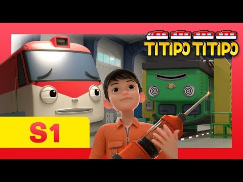 TITIPO S1 EP9 l The scariest thing for Titipo?! l Trains for kids l TITIPO TITIPO