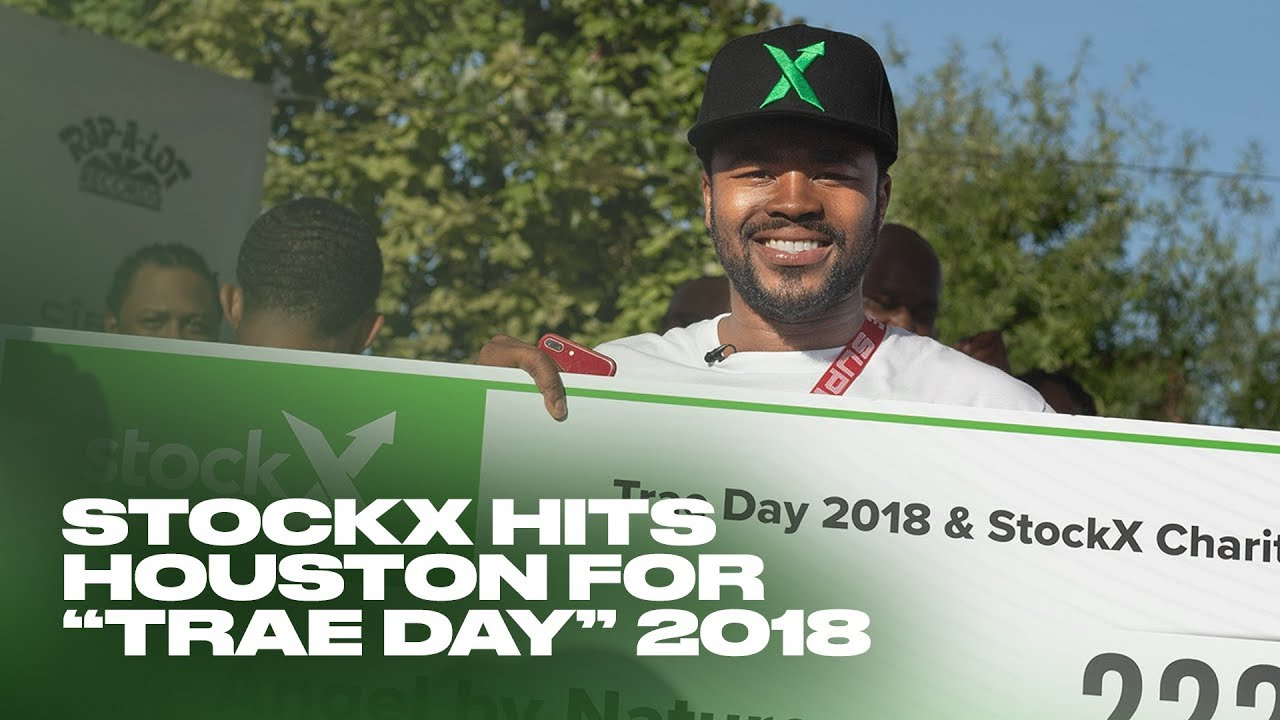 """bee2bb4f683 StockX hits Houston for """"Trae Day"""" 2018 - YouTube"""