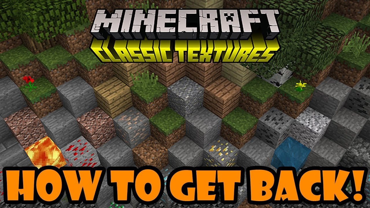 Minecraft Bedrock: How To Get The OLD Classic Texture Pack!? - YouTube