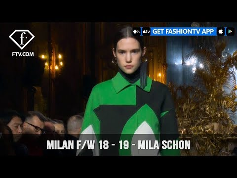 Milan Fashion Week Fall/Winter 18-19 -  Mila Schon | FashionTV | FTV