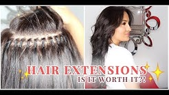 Hair Extensions - Is It Worth It?! Watch the whole process! (Brazilian Knots)