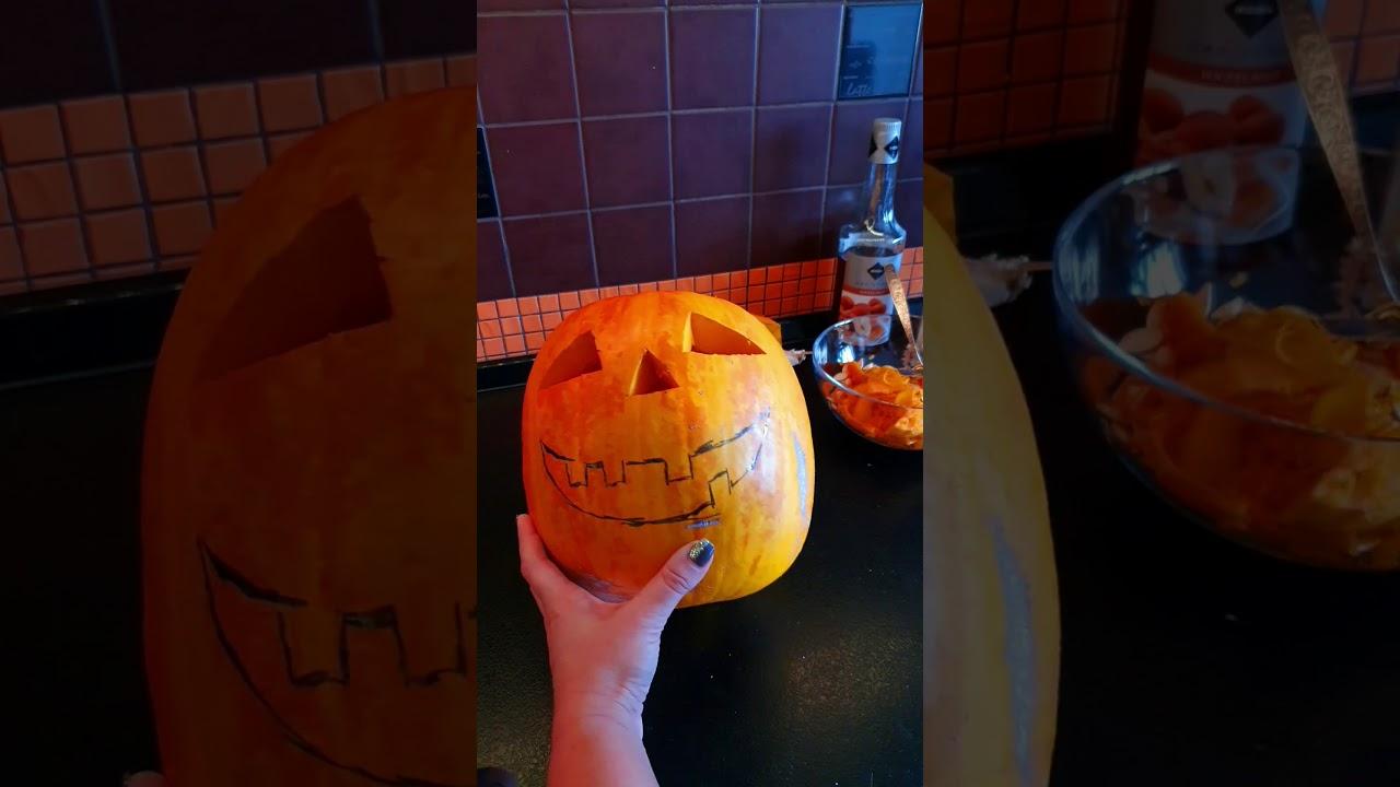Как сделать из тыквы фонарь на Хэллоуин MyTub