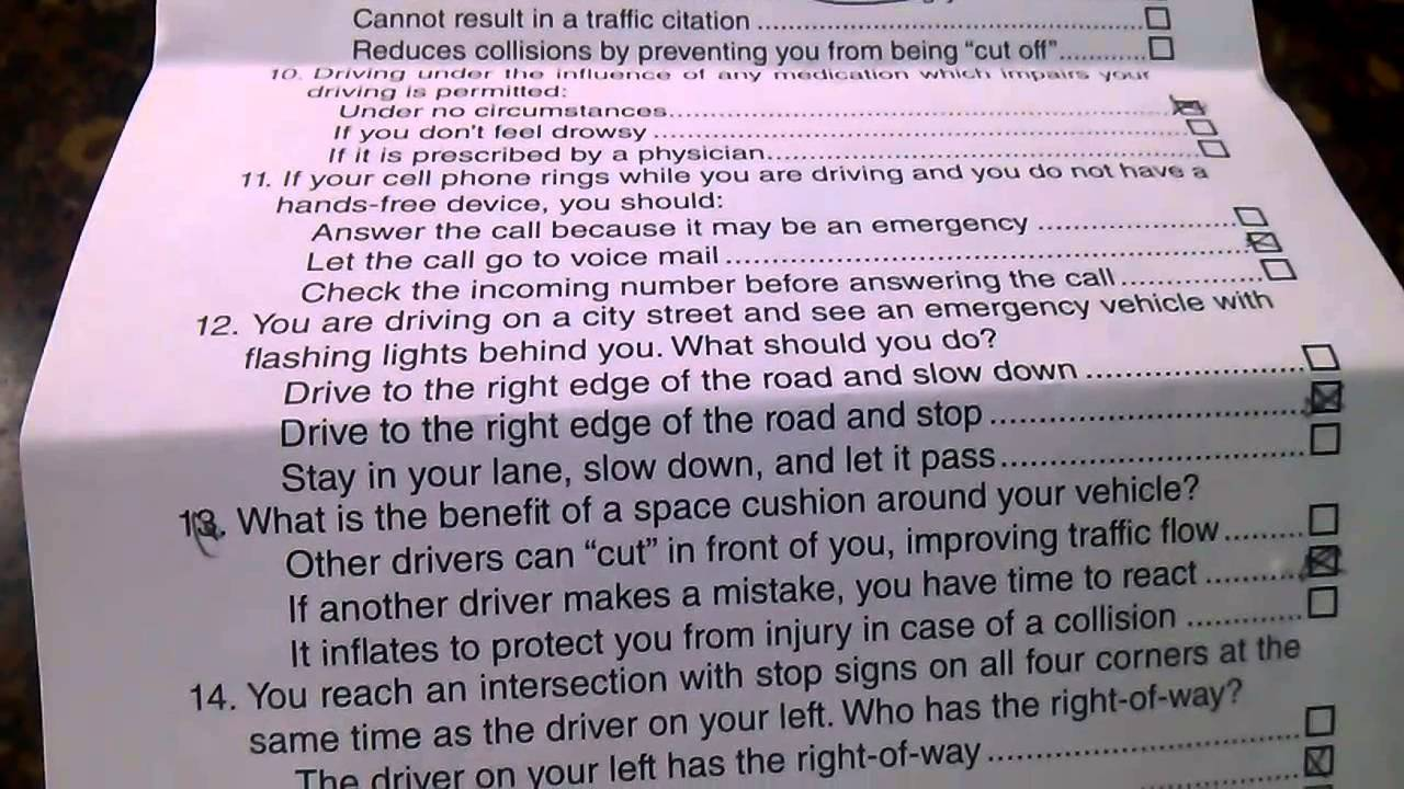 essay about driving test