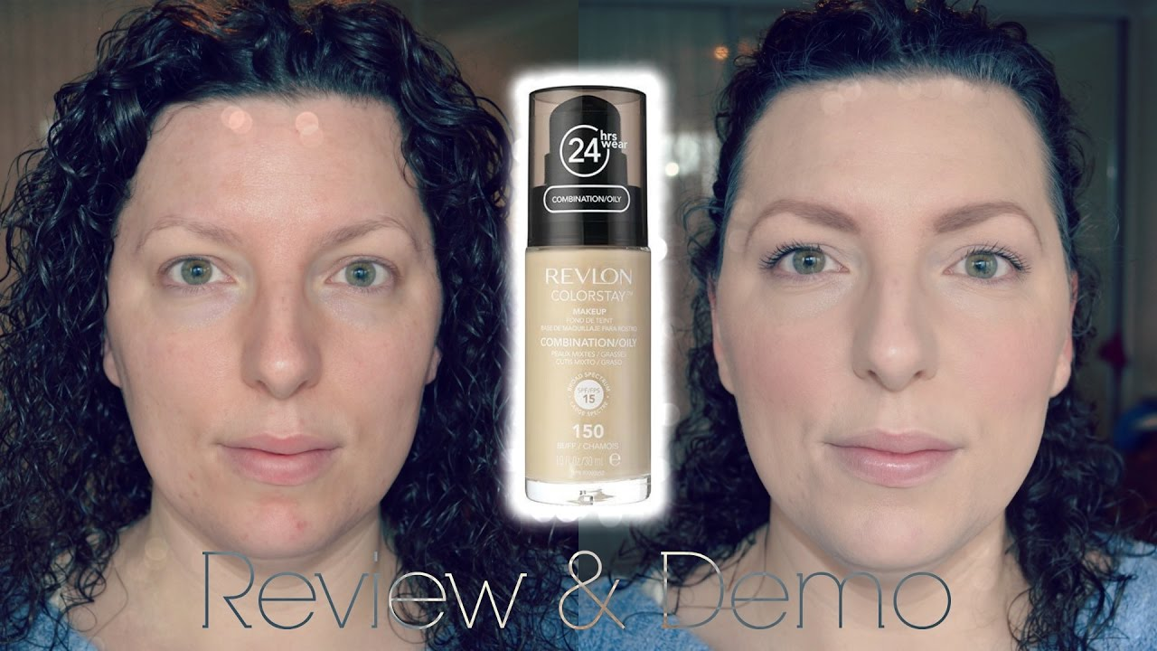 Review & Demo - Revlon Colorstay Foundation | Oily/Blemish Prone Skin | Beauty | Fun | WavyKate