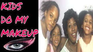 KIDS DO MY MAKEUP || NAPPILY EVER AFTER ❤