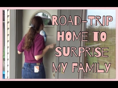 SURPRISING MY FAMILY (by coming home early) Part 1 | Cassie Carlyle