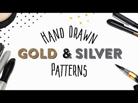 Hand Drawn Gold and Silver Patterns by SparkleStock