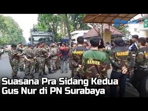Suasana Pra Sidang Kedua Gus Nur di Pengadilan Negeri Surabaya image