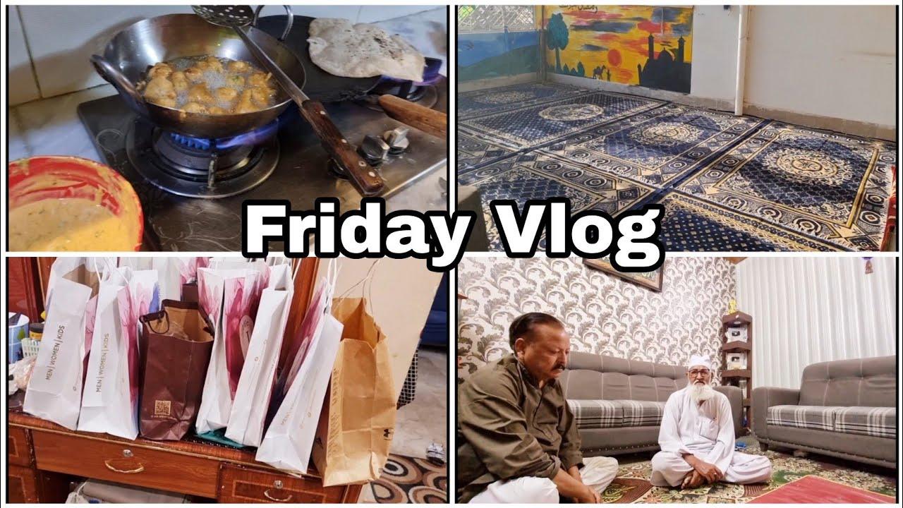 Friday Vlog - Mera Dress Agaya - Milad Ki Tayyari Hogayee - jhet Aye Karachi se