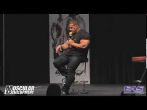 Jay Cutler questioned on steroid use (FULL VID)