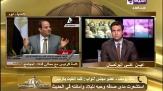 خالد يوسف: لا يمكن اجراء استفتاء بالبرلمان للتنازل عن ''تيران وصنافير''