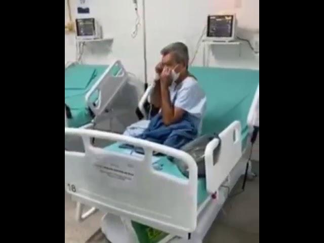 Paciente de Covid-19 em Angra dos Reis comemora aniversário e alta hospitalar