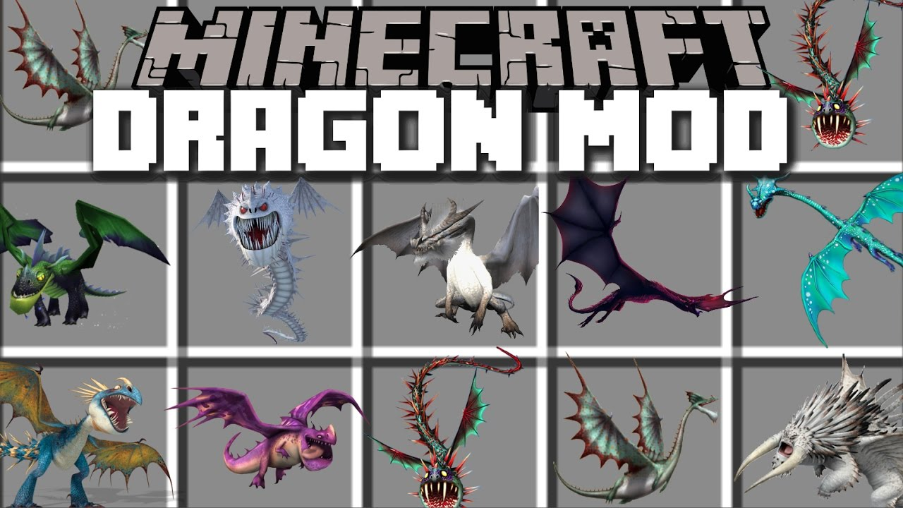 Minecraft DRAGON MOD / PLAY WITH DRAGONS AND RIDE THEM WITH
