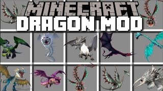 Minecraft DRAGON MOD / PLAY WITH DRAGONS AND RIDE THEM WITH FIREBALLS!! Minecraft