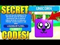 SECRET LEGENDARY PET CODES IN SLAYING SIMULATOR! Roblox