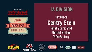2019World Final 1A 01 Gentry Stein WORLD YOYO CONTEST 2019 Presented by Cloud Native Inc WYYC2019