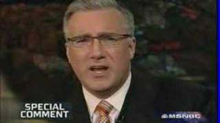 Keith Olbermann:To Mr. Bush Shut the Hell Up!