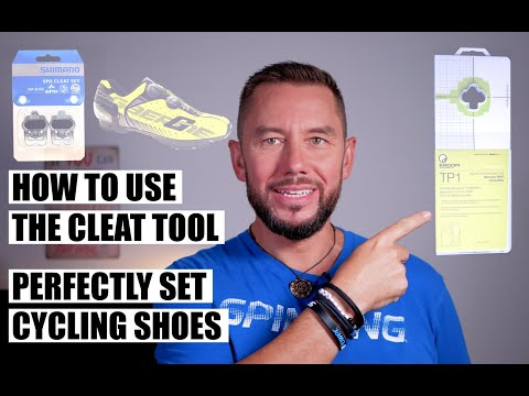 How to set cycling shoe cleats using a pedal cleat tool - Cycling shoes cleat position