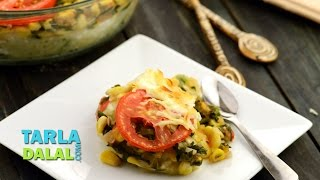 Baked Spinach With Corn By Tarla Dalal