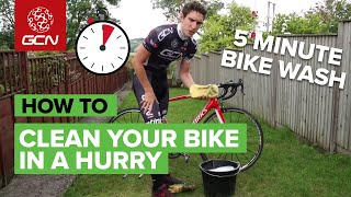 The 5 Minute Bİke Wash - How To Clean Your Bike In A Hurry