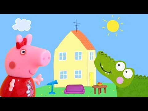 Peppa Pig Game | Crocodile Hiding Peppa Pig Toys In Family Home Furniture