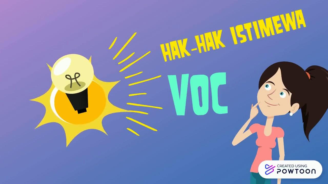 HAK-HAK ISTIMEWA VOC - YouTube