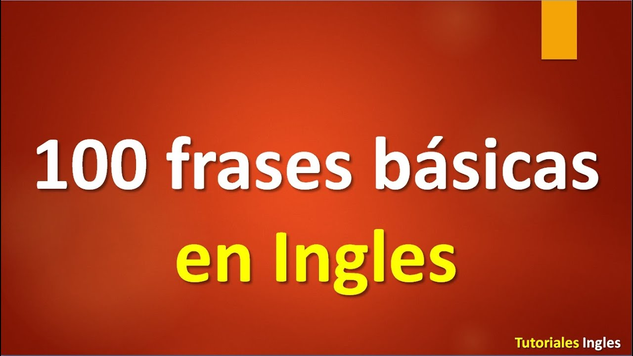 Lista De Frases En Ingles