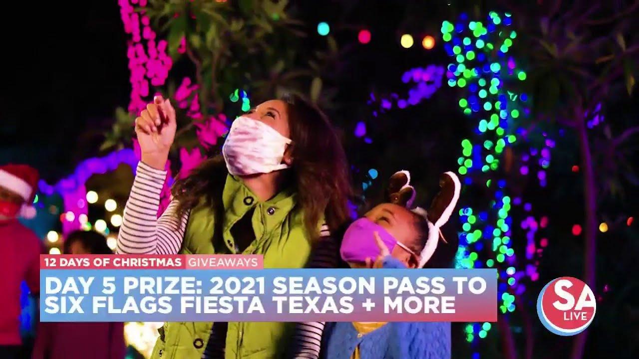 Fiesta Texas Christmas 2021 12 Days Of Christmas Giveaways Day 5 Six Flags Fiesta Texas Youtube