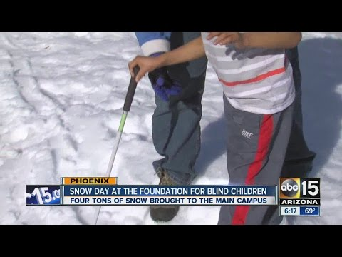 Snow day at the Foundation for Blind Children